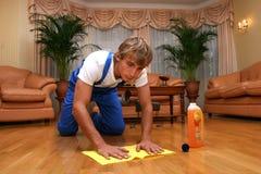 professionista di pulizia Fotografie Stock