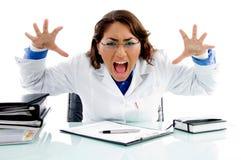 Professionista medico gridante Immagini Stock