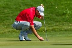 Professionista Robert Karlson Green di golf Fotografia Stock Libera da Diritti