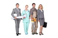 Professionisti dai settori differenti Immagine Stock