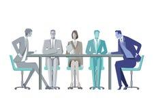 Professionisti di affari alla tavola di conferenza Immagine Stock Libera da Diritti