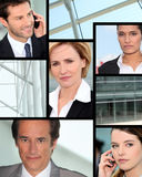 Professionisti sul telefono Fotografie Stock