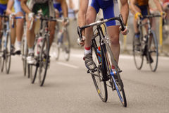 Professionnal cyclism. Race of professionnal cyclist on the road Royalty Free Stock Image