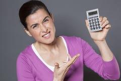 Professionnal femelle déçu par mauvais retour sur l'investissement image stock