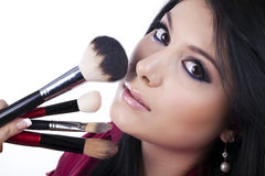 Professionnal makeup artits Royalty Free Stock Photo