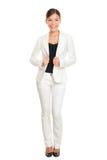 Professionnel de femme d'affaires jeune se tenant dans le costume Photo libre de droits