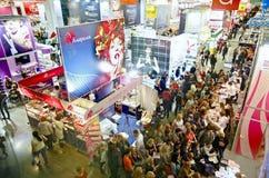 Professionnel de l'exposition INTERCHARM de Moscou, Russie images stock