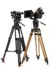 professionnel deux de film de chambre de 35mm Photos libres de droits