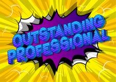 Professionnel exceptionnel - mots de style de bande dessinée illustration libre de droits