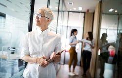 Professionnel féminin supérieur de carrière, affaires, comptable, mandataire, d'entreprise, CEO photo stock