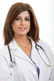Professionnel hispanique de soins de santé de brune Images stock