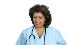 Professionnel médical concerné images stock
