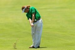 Professionnel Miguel Angel Jimenez Swinging de golf Image libre de droits