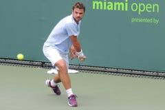 Professionnel Stanislas Wawrinka de tennis de triphosphate d'adénosine photos libres de droits