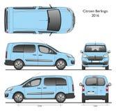 Professionnel 2016 Van de Citroen Berlingo longtemps Photographie stock
