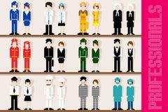 Professionnels de pixel illustration de vecteur