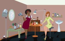 Professionnels de salon de beauté Photos stock