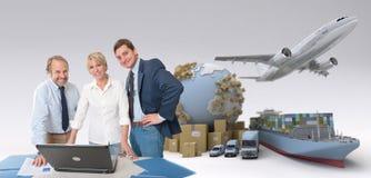 Professionnels globaux de logistique Image libre de droits