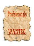 Professionnels voulus Image stock