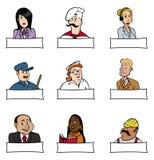 Professions 2 de gens Image libre de droits