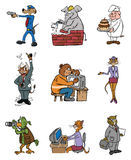Professions animales illustration de vecteur