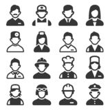 Professions Avatars Set on White Background. Vector stock photography