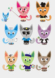 Professions cats Stock Image