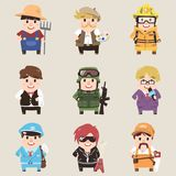 Professions collection. Part 2 stock illustration