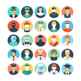 Professions Colored Vector Icons 1 Stock Photo