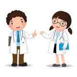 Profession's costume of doctor for kids Stock Images
