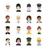 Professions et avatar de professions illustration stock