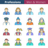 Professions et professions de personnes Images libres de droits