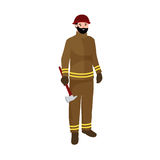 Professions firefighter man. Worker peoples team  vector illustration. Peoples different professions Stock Photography