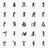 Professions icons Stock Images