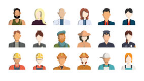 professions icons. Professions avatar icons on white background Royalty Free Stock Photo