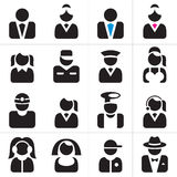 Professions icons set Royalty Free Stock Image