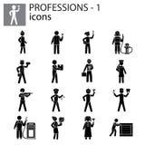 Professions icons set. Illustration Royalty Free Stock Photo