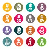 Professions icons set Stock Photo