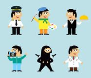 Professions icons set Stock Photos