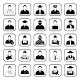 Professions 25 icons set for web and mobile Stock Image