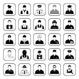 Professions icons set for web and mobile Royalty Free Stock Photo