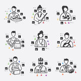 Professions infographic Stock Photo