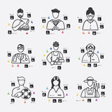 Professions infographic Stock Photos