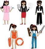 Professions and jobs Stock Image