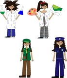 Professions and jobs Stock Photos