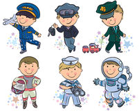 Professions kids set 1 Stock Photo
