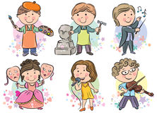 Professions kids set 2 Royalty Free Stock Image