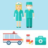 Professions noors man and woman Royalty Free Stock Photography