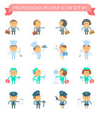 Professions People Icon Set 1 Stock Images
