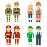 Professions service staff Stock Images